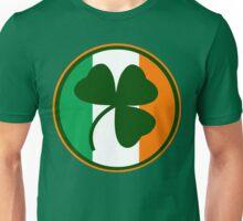 Green and orange Irish logo, shamrock  Unisex T-Shirt
