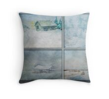 Wintry Hour Veil Throw Pillow