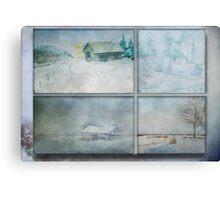Wintry Hour Veil Canvas Print