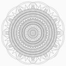 Tut Mandala - Color Your Own T-Shirt by TheMandalaLady