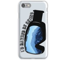 I'd Rather Be Skiing - Goggles iPhone Case/Skin