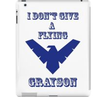 I don't give a flying grayson - transparent text iPad Case/Skin