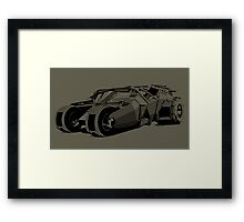 Batmobile Framed Print