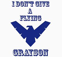 I don't give a flying grayson - transparent text Unisex T-Shirt