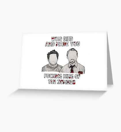 Shaun of the Dead Greeting Card