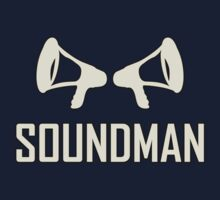 Soundman (Useful design) White decoration 	Clothing & Stickers by goodmusic