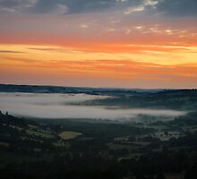 Sunrise over Wales by barrylee