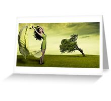 Bow To The Wind Greeting Card