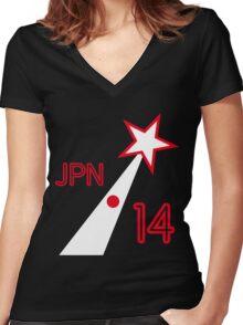 JAPAN STAR Women's Fitted V-Neck T-Shirt