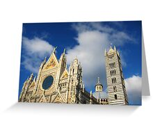 Siena Cathedral, Siena, Italy Greeting Card