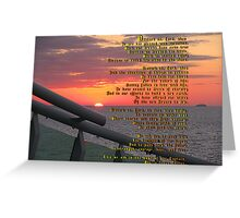 """Disturb us Lord...""  Sir Francis Drake Greeting Card"