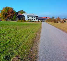Country road and beautiful panorama | landscape photography by Patrick Jobst