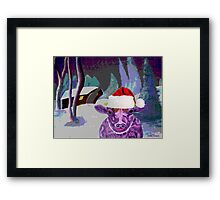 Pearl the Purple Cow waiting for Santa Framed Print