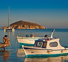 Sitting on the dock of the bay by Konstantinos Arvanitopoulos