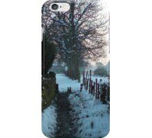 snow on the lane iPhone Case/Skin