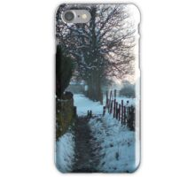 snow on the lane iPhone Case/Skin