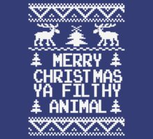 Merry Christmas Ya Filthy Animal Ugly Sweater by xdurango