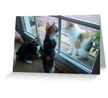 """Little Mickey and Moire, and Mommy Wonkers at """"Visiting Hour"""" Greeting Card"""