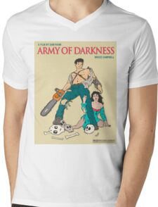 Army Of Darkness - Beige Mens V-Neck T-Shirt