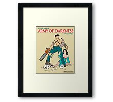 Army Of Darkness - Beige Framed Print