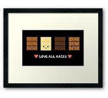 Love all races Framed Print