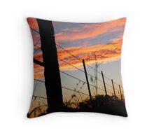 Sunset Fenceline 2 Throw Pillow