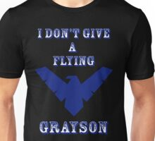 I don't give a flying grayson - Solid text Unisex T-Shirt