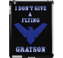 I don't give a flying grayson - Solid text iPad Case/Skin