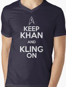 Keep Khan and Kling On Mens V-Neck T-Shirt