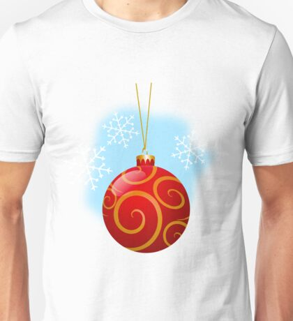 Red Christmas Decoration Ball 2 Unisex T-Shirt
