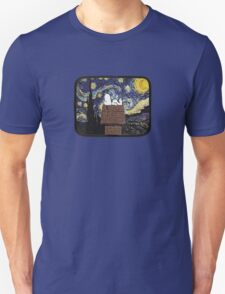 The starry night with Snoopy Unisex T-Shirt