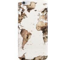 Map of the World Map Sepia Watercolor iPhone Case/Skin