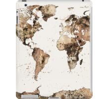 Map of the World Map Sepia Watercolor iPad Case/Skin