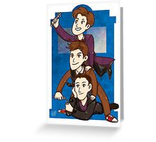 Nine to Eleven Greeting Card