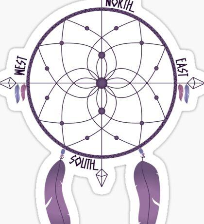Dreamcatcher Compass Sticker
