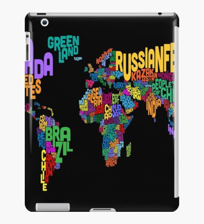 Text Map of the World Map iPad Case/Skin