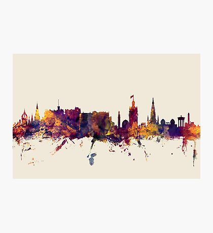 Edinburgh Scotland Skyline Photographic Print