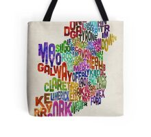 Ireland Eire County Text Map Tote Bag