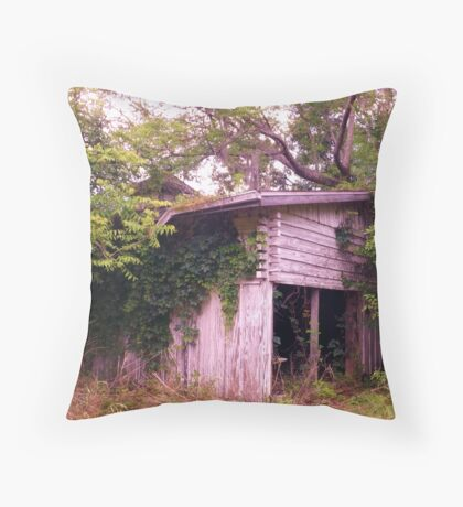 Greenery Awashed Artistic Photograph by Shannon Sears Throw Pillow