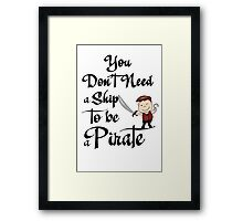 Pirate T-Shirt. Captain Hook. Framed Print