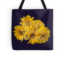 I Love You A Thousand Yellow Daisies Tote Bag