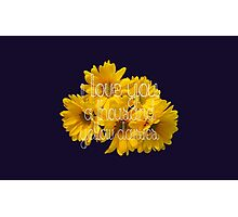 I Love You A Thousand Yellow Daisies Photographic Print