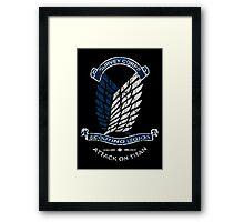 Emblem Grunge  Framed Print