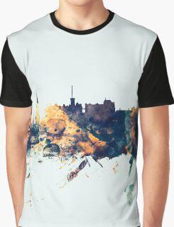 Edinburgh Scotland Skyline Graphic T-Shirt