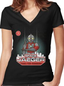 Space Jaeger Women's Fitted V-Neck T-Shirt