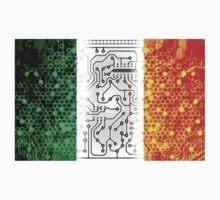 circuit board ireland(Flag) Kids Tee