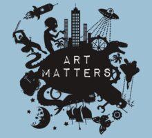 Art Matters (Dark) Kids Tee