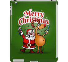 Merry Christmas - Santa Claus and his Reindeer iPad Case/Skin