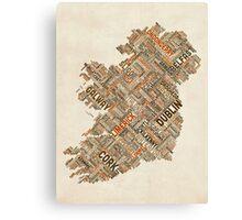 Ireland Eire City Text map Canvas Print