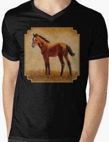 Cute Bay Quarter Horse Foal Mens V-Neck T-Shirt